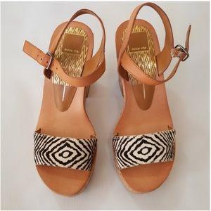 Dolce VIta wedges sandal Zebra print size 7.5